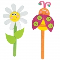Daisy and Ladybug Foam Puppets Kit DIY